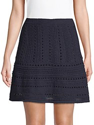 Saks Fifth Avenue Eyelet Flared Skirt Night
