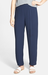 Eileen Fisher Silk Ankle Pants Regular And Petite Online Only Midnight