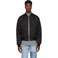 Paa Black Quilted Bomber Jacket