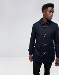 Selected Homme Wool Duffle Coat Dark Sapph Navy