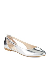 Obsession Rules Lindy Pointed Toe Flats Silver