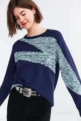 Ecote Camilla Pullover Sweater Blue Multi