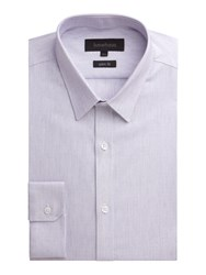 Limehaus Micro Dobby Slim Fit Formal Shirt Lilac
