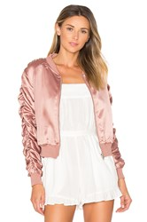 By The Way. Zana Ruched Bomber Pink