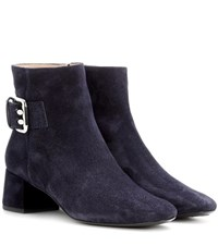 Tod's Suede Ankle Boots Blue