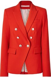 Veronica Beard Miller Dickey Double Breasted Cady Jacket Red