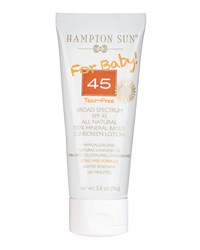 For Baby Broad Spectrum Spf 45 All Natural Sunscreen Lotion 3.4Oz Hampton Sun Tan