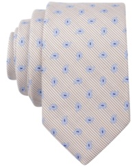 Bar Iii Carnaby Collection Swan Pine Skinny Tie Taupe