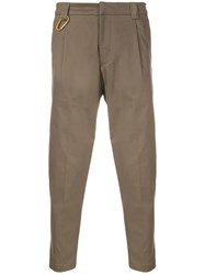 Low Brand Cropped Slim Trousers Brown