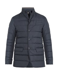 Herno Detachable Placket Padded Down Coat Blue