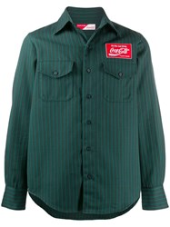 Facetasm X Coca Cola Striped Logo Shirt Green