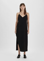 Organic By John Patrick Slit Slip Dress Black
