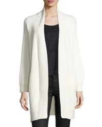 1.State Open Front Cable Back Cardigan Off White