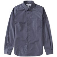 Comme Des Garcons Shirt Button Down Classic Poplin Shirt Grey