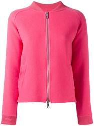 P.A.R.O.S.H. Zip Up Bomber Jacket Pink Purple