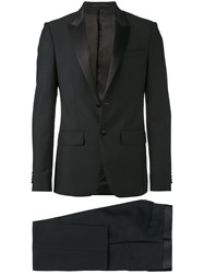 Givenchy Formal Suit Men Silk Cotton Polyester Wool 50 Black