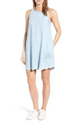 Rd Style Women's Scalloped Chambray Shift Dress