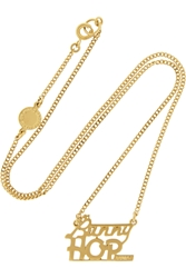 Marc By Marc Jacobs Bunny Hop Gold Plated Cubic Zirconia Necklace
