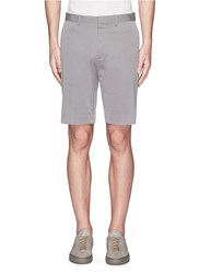 Theory 'Beck' Stripe Cotton Blend Shorts Grey