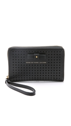 Marc By Marc Jacobs Sophisticato Bow Perforated Wingman Wallet Black