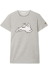 Bella Freud Printed Cotton Jersey T Shirt Stone