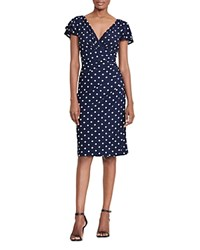 Ralph Lauren Polka Dot Dress Navy Colonial Cream