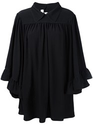 Mcq By Alexander Mcqueen Flared Collar Dress Black