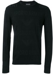 Emporio Armani Logo Sweater Black