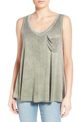 Women's Socialite Washed Pocket Tank