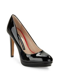 French Connection Robbie Patent Leather Pumps Black