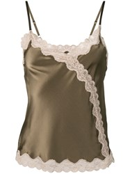 Max And Moi Lace Detail Tank Top Green