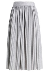 Object Objmiya Caroline Pleated Skirt Light Grey Melange Mottled Light Grey