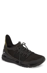 Puma Ignite Limitless Netfit Running Shoe Puma Black Olive Night