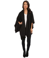 Echo Boucle Hooded Ruana Black Women's Sweater
