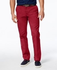 Tommy Hilfiger Men's Custom Fit Chino Pants Chili Pepper