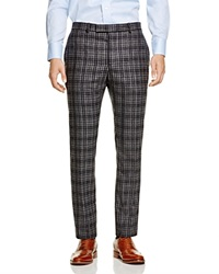 Hardy Amies Prince Of Wales Regular Fit Trousers Charcoal