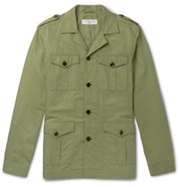 Orlebar Brown 007 The Man With The Golden Gun Cotton And Linen Blend Twill Jacket Green