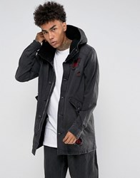 Cayler And Sons Denim Parka In Black With Distressing Black