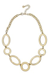 Baublebar Oval And Circle Statement Necklace Gold