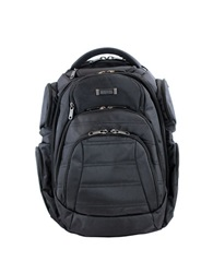 Kenneth Cole Reaction Double Gusset Computer Backpack Black