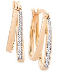 Victoria Townsend Diamond Accent Double Hoop Earrings Rose Gold