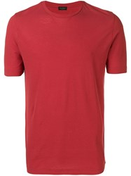Dell'oglio Slim Fit T Shirt Red