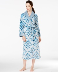 Charter Club Damask Long Robe Teal Damask