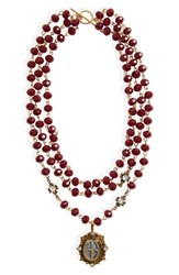 Virgins Saints And Angels Grande San Benito Rosary Necklace Special Purchase Nordstrom Exclusive Gold Burgundy