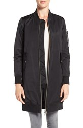 Members Only Women's Ma 1 Long Bomber Jacket