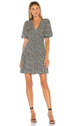 Rebecca Taylor Louisa Floral Dress In Black. Macachite Combo