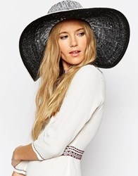 Asos Oversized Straw Hat In Ombre Space Dye Mono Multi