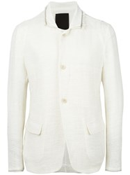 Lost And Found Ria Dunn High Neck Tailored Jacket White