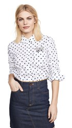 Paul And Joe Sister Lilii Cat Button Down White