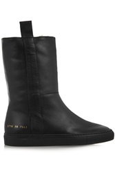 Common Projects Sherpa Faux Shearling Lined Leather Ankle Boots